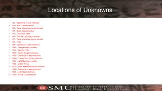 Locations of Unknowns