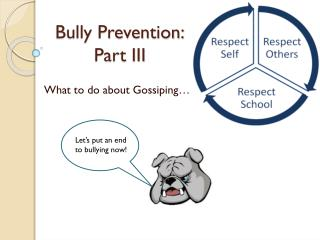 Bully Prevention: Part  III