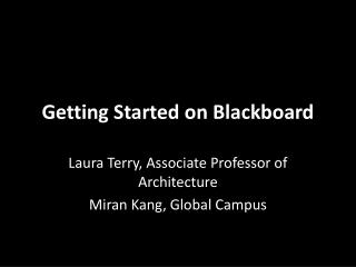 Getting Started on Blackboard