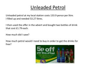 Unleaded Petrol
