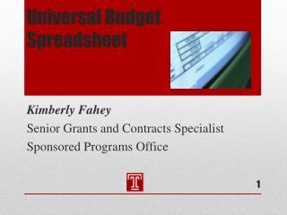 Universal Budget Spreadsheet