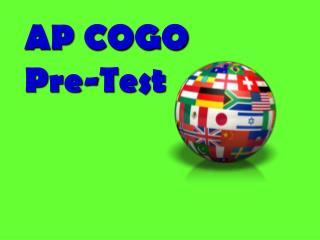 AP COGO Pre-Test