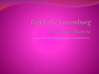 Very  Little Luxemburg by Yazmine Akamine