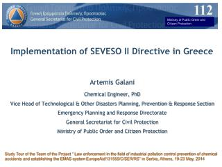 Implementation of SEVESO II Directive in Greece