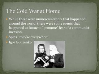The Cold War at Home