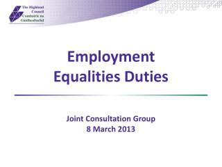 Employment Equalities Duties
