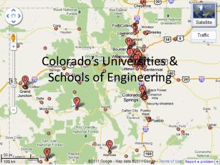 Colorado's Universities &  Schools of Engineering