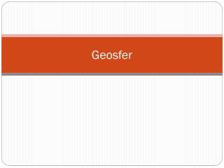 Geosfer