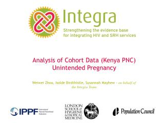 Analysis of Cohort Data (Kenya PNC) Unintended Pregnancy