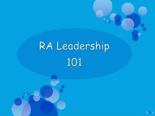 RA Leadership  101