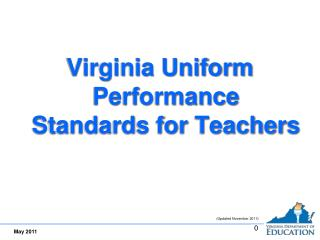 Virginia Uniform Performance Standards for Teachers