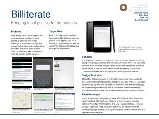 UC Berkeley CS160  Spring 2013 User Interface Design