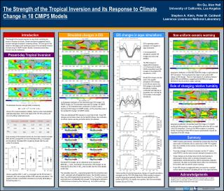 The Strength of the Tropical  I nversion  and its Response to Climate  C hange in 18 CMIP5 Models