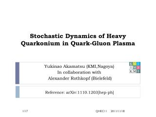 Stochastic Dynamics of Heavy  Quarkonium  in Quark-Gluon Plasma