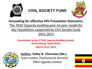 Presentation at the 2 nd  HIV Capacity Building Summit, Johannesburg, South Africa