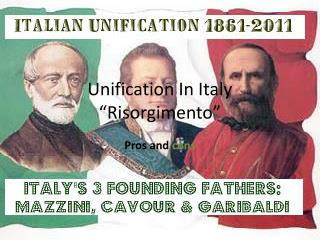 "Unification In Italy  ""Risorgimento"""