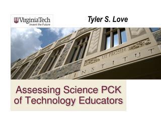 Assessing Science PCK of Technology Educators