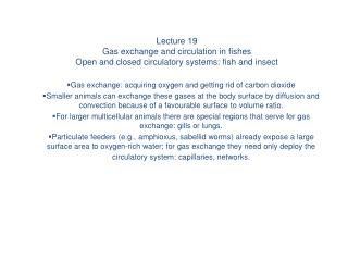 Gas exchange: acquiring oxygen and getting rid of carbon dioxide