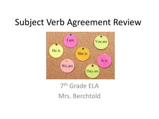 Subject Verb Agreement Review