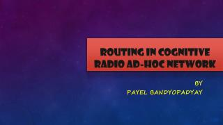 Routing in Cognitive Radio Ad-hoc Network