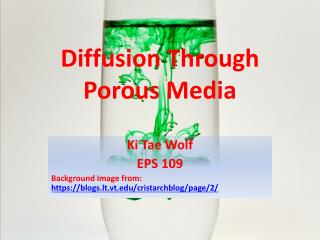 Diffusion  Through Porous Media