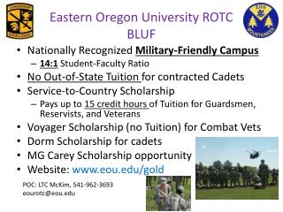 Eastern Oregon University ROTC  BLUF