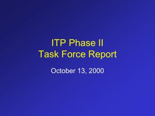 ITP Phase II
