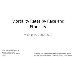 Mortality Rates by Race and Ethnicity