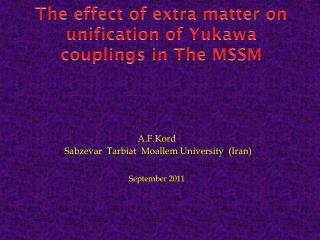 The effect of extra matter on unification of Yukawa couplings  in The MSSM
