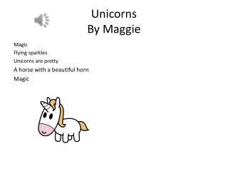 Unicorns By Maggie