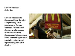 Chronic  diseases: definition