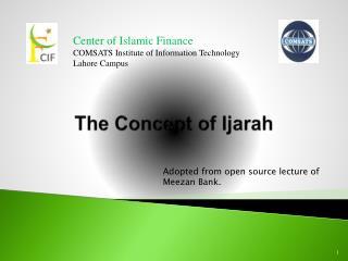 The Concept of  Ijarah