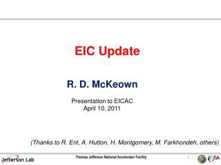 EIC Update