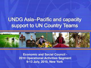 UNDG Asia�Pacific and capacity support to UN Country Teams