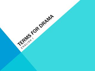 Terms for Drama