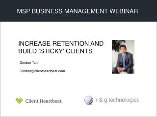 MSP BUSINESS MANAGEMENT WEBINAR
