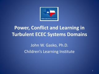 Power, Conflict and Learning in Turbulent ECEC Systems Domains