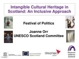 Festival of Politics  Joanne Orr UNESCO Scotland Committee