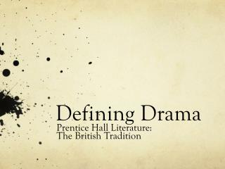 Defining Drama