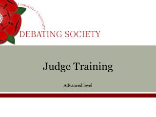 Judge Training