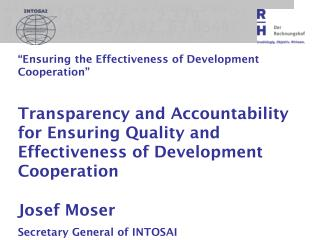"""Ensuring the Effectiveness of Development Cooperation"""