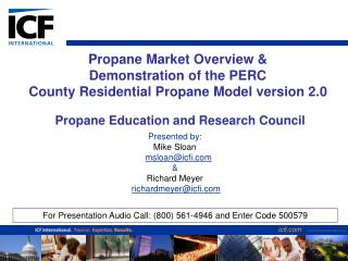 Propane Market Overview   Demonstration of the PERC  County Residential Propane Model version 2.0
