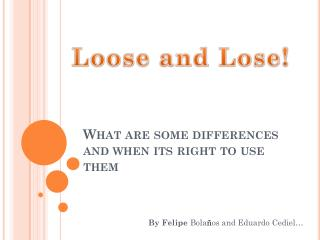 What are some differences and when its right to use them