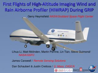 First Flights of High-Altitude Imaging Wind and Rain Airborne Profiler (HIWRAP) During GRIP