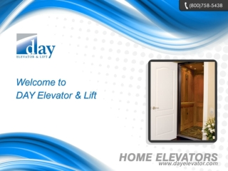 Elevators, Home Elevators, Residential Elevators - DAY Eleva