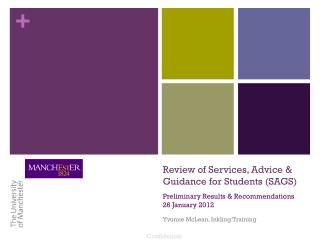 Review of Services, Advice & Guidance for Students (SAGS)