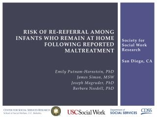 Risk of Re-referral among infants who remain at home following Reported maltreatment