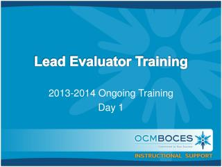 Lead Evaluator Training