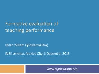 Formative  evaluation of teaching performance
