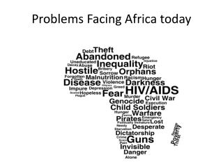 Problems Facing Africa today